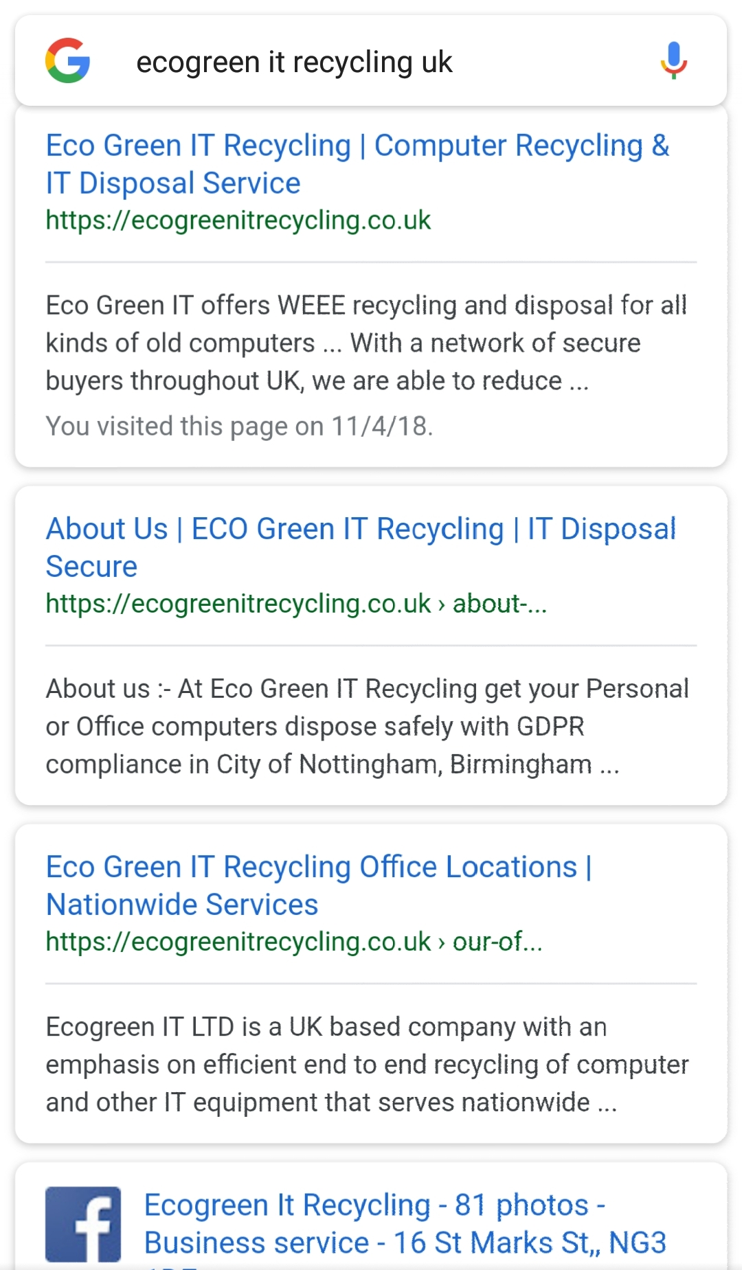schema markup for ecogreen it recycling