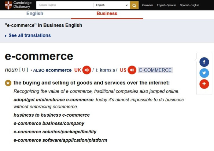 Ecommerce or E-commerce
