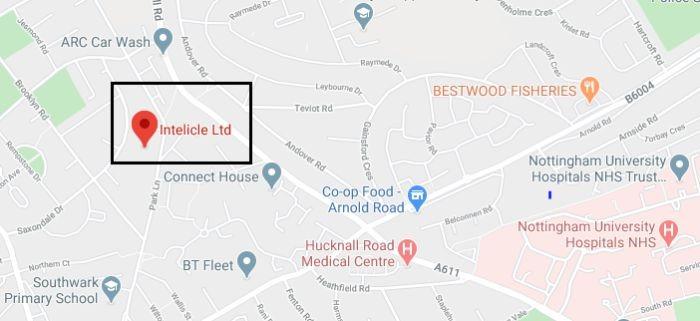intelicle address on map